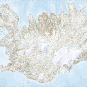 Veggkort – Ísland 1:250 000