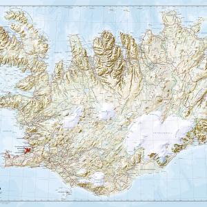 Veggkort – Ísland 1:350 000