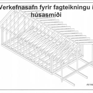 Fagteikning í húsasmíði – tilraunaútgáfa 2021